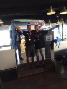 menno en marcel voor de 9e x nederlands kampioen.